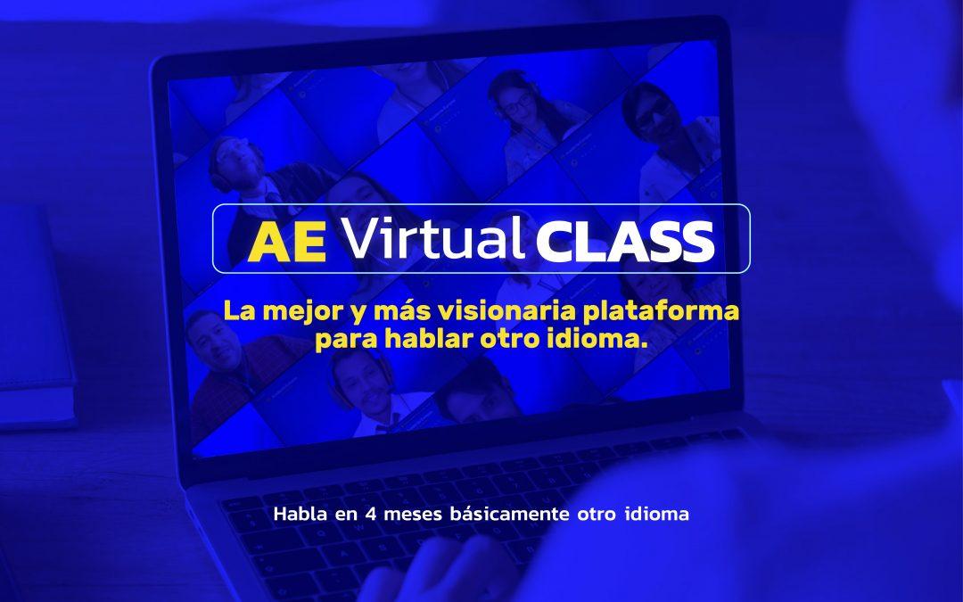 AE Virtual Class. La mejor y más visionaria plataforma para hablar otro idioma.